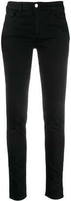Emporio Armani Logo Patch Low-Rise Skinny Jeans