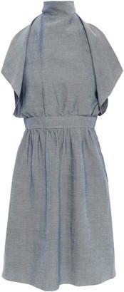 M Missoni Cutout Layered Chambray Mini Dress