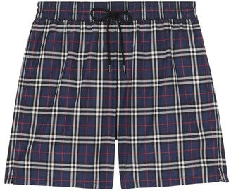 Burberry Guildes Plaid Swim Shorts
