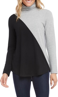 Karen Kane Colorblock Turtleneck Top