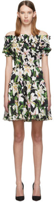 Dolce & Gabbana Black Lilium Dress