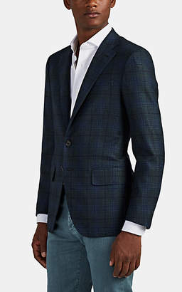 Isaia Men's Sanita Plaid Wool-Cashmere Two-Button Sportcoat - Gray
