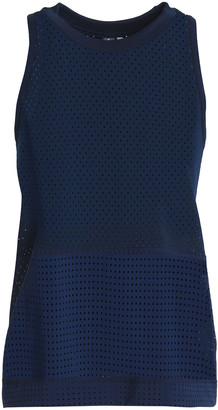 adidas by Stella McCartney Train Hiit Striped Perforated Climacool Tank