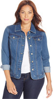 Charter Club Plus Size Denim Jacket, Only at Macy's