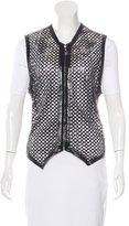 Gianni Versace Laser Cut Leather Vest