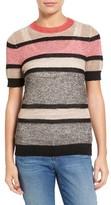 Women's Halogen Stripe Open Stitch Sweater