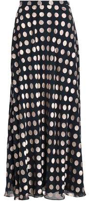 Zimmermann Polka-dot Fil Coupe Silk-blend Maxi Skirt