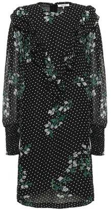 Ganni Rometty Ruffled Printed Georgette Dress