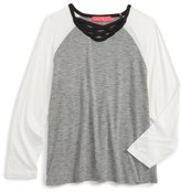 Menu Girl's Raglan Sleeve Tee