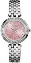 CARAVELLE, NEW YORK Caravelle New York Womens Crystal-Accent Stainless Steel Bracelet Watch 43L193