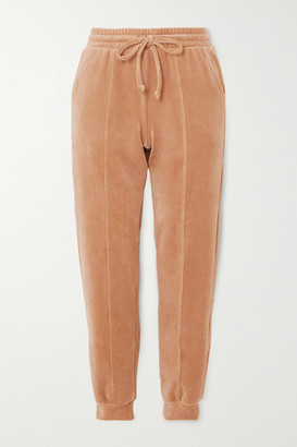 YEAR OF OURS Cotton-blend Velour Track Pants - Beige