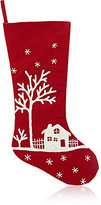 Arcadia Village-Embroidered Holiday Stocking-RED