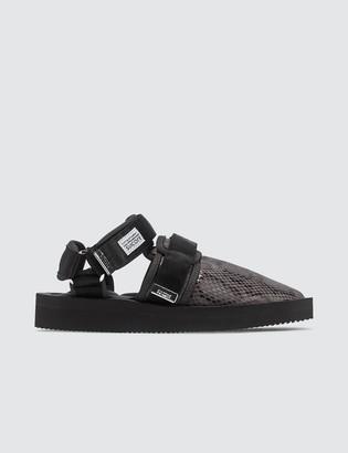 Suicoke Snake-Effect Velcro Sandals