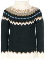 Valentino patterned turtleneck jumper