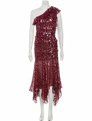 Veronica Beard Leighton Long Dress w/ Tags Red