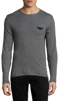 Knowledge Cotton Apparel Striped Pocket Sweater