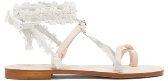 Álvaro González X Thierry Colson Tanna Wraparound Leather Sandals - White