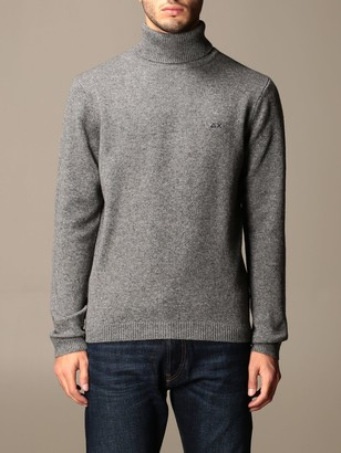 Sun 68 Basic Turtleneck With Logo