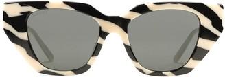 Gucci Zebra Pattern Cat-Eye-Frame Sunglasses