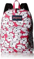 JanSport Superbreak Backpack - pink/white, one