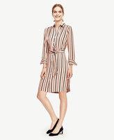 Ann Taylor Petite Stripe Shirtdress