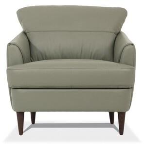 Corrigan Studio Sophie Armchair Fabric: Pearl Gray Genuine Leather