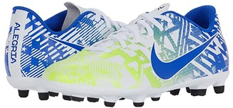 Nike Kids Jr Vapor 13 Club NJR FG/MG (Little Kid/Big Kid) (White/Racer Blue/Volt/Black) Kids Shoes