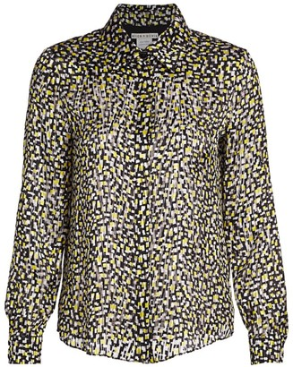 Alice + Olivia Willa Print Blouse
