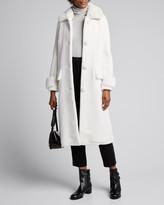 Stand Karissa Long Faux Fur Pompom Coat