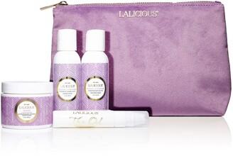 LaLicious Sugar Lavender Cleanse, Exfoliate & Moisturize Travel Set
