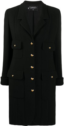 Chanel Pre Owned 1990s Single-Breasted Coat