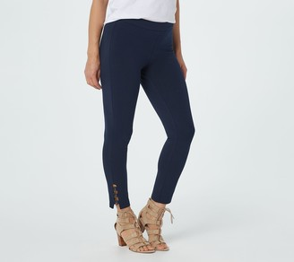 Susan Graver Petite Weekend Premium Stretch Crop Leggings