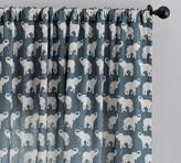Pottery Barn Elephant Print Curtain
