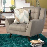 Langley StreetTM Alvinholmes Chair and a Half Langley Street Upholstery Color: Dove Gray