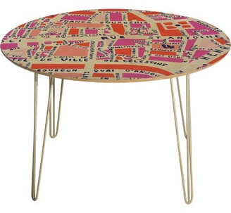 Deny Designs Holli Zollinger Paris Map Pink Dining Table