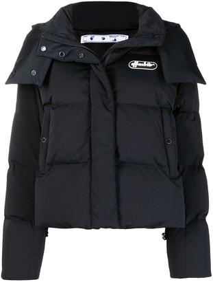 Off-White Logo-Print Puffer Jacket