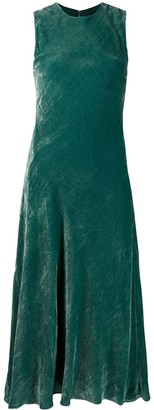 Sies Marjan Viv velvet-effect midi dress