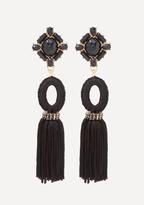 Bebe Stone & Tassel Earrings