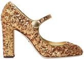 Dolce & Gabbana 90mm Sequined Mary Jane Pumps