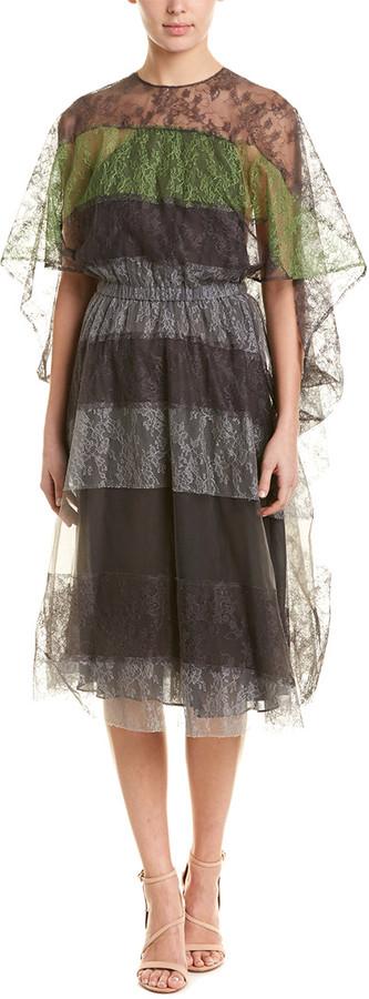 Valentino Lace Silk Midi Dress