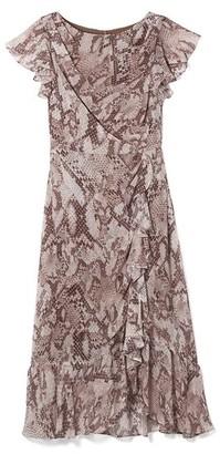 Vince Camuto Python-Print Midi Dress
