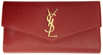 Saint Laurent Red Large Uptown Wallet