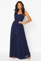 boohoo Bridesmaid Occasion One Shoulder Detail Maxi Dress