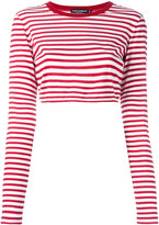 Dolce & Gabbana striped cropped top - women - Cotton - 44
