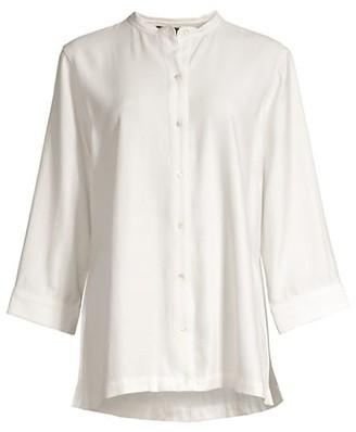 Natori Sanded Twill Tunic Shirt