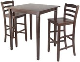 Winsome Wood Kingsgate High/Pub Dining Table with Ladder Back High Chair, 3-Piece