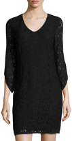 Laundry by Shelli Segal Lace-Overlay Sheath Dress, Black
