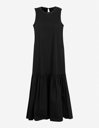 Frankie Shop Loulou dropped-hem cotton maxi dress