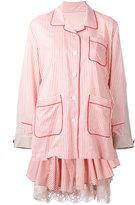 Sacai layered pyjama-style dress - women - Cotton/Polyester - 1