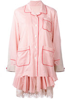 Sacai layered pyjama-style dress - women - Cotton/Polyester - 2